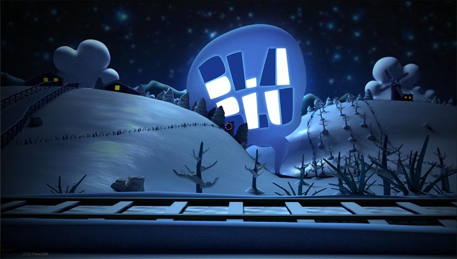 Tren en invierno